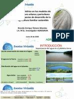 Manejo nutricional e hídrico en los modelos de agricultura urbana A