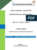Tarea  13   A -  tema 3.3  unidad 3   CUADRO CUBISTA   Identificación de las características formales del arte  GRUPO  3B AKE CABRERA VICTOR MANUEL