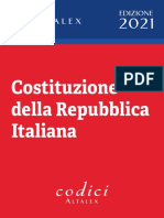 Costituzione Repubblica Italiana Ottobre 2020