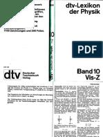 Dtv Lexikon Der Physik Band 10 Vis-Z