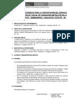 11. TDR CONS. GUARDAVIAS METALICOS CHOTA nov