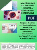 A Vacina Como Mecanismo de Combate a Pandemia Do Coronava Rus