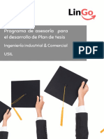 Presentación - Brochure Plan de tesis USIL - IND