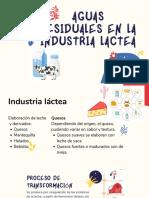 aguas residuales industriales en lacteos