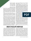 INDIA'S WILDLIFE HERITAGE BY PRATHEEK