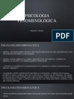 PSICOLOGIA FENOMENOLÓGICA