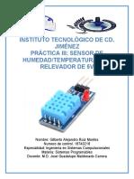 Practica 3 Sensor de Temperatura-Humedad con relevador de 5v