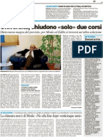 """Università, chiudono """"solo"""" due corsi - Il Resto del Carlino dell'11 marzo 2011"""