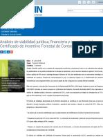 Análisis de viabilidad jurídica, financiera y operativa del Certificado de Incentivo Forestal de Conservación