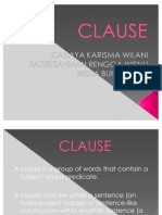 CLAUSE Presentasi