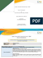 Formato de Matriz de marco lógico para análisis de problemática