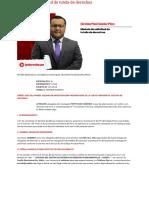 Modelo de solicitud de tutela de derechos _ LP