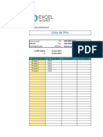 Modèle De Liste de Prix_Excel