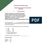 Muhlenberg/TMC Pa. Quality of Life Survey