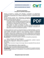Valoracion Preanestesica. Homeopatia. Mozqueda Ayala