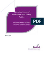 A Literature Review of International Adult Literacy Policies 110311
