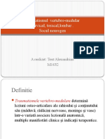 Traumatismul Vertebro-medular cervical, toracic
