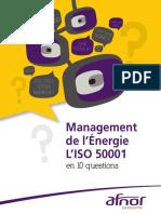 Plaquette AFNOR sur la norme ISO 50001 Management de l'énergie