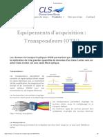 Transpondeurs