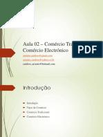 Aula 02 – Comércio Tradicional & Comércio Electrónico