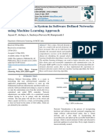 Intrusion Detection System in Software Defined Networks using Machine Learning Approach