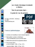 Dialyse point de vue du geriatre