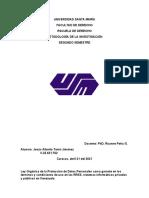 Universidad Santa María- Trabajo Metodologia de La Investigacion Parte 1
