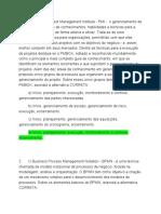 Prova 2 de Gest de Projetos e Processos