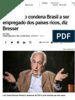 Bresser Pereira - Privatização condena Brasil - 2017-09-02
