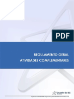 Regulamento Geral Atividades Complementares 2021