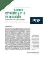 Moura. 2014. Trasnformaciones Territoriales y Red Ciudad