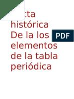 historia de los  elementos químicos de la tabla periodica