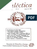 Revista Dialectica n°13, 1983