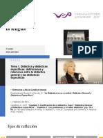"""2º Seminario Didácticas de la lengua.  Introducción a los tres primeros capítulos del libro """"El saber didáctico"""""""