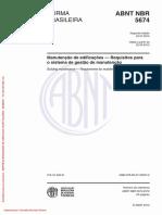 NBR 5674 Manutenção de edificações