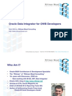 Oracle Data Integrator for OWB Developers