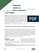 - OK USAR - Desenvolvimento socioeconômico e agroindústria canavieira no Paraná