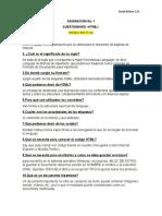 Cuestionario HTML