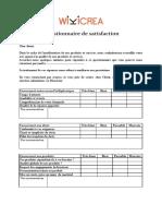 Modèle Exemple Questionnaire Satisfaction Word (2)
