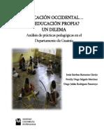 Libro Educación Occidental o Educación Propia