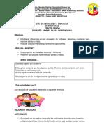 Guia de Educacion a Distancia Matematicas Grado 3a-3b