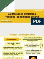 A radiação solar II  20-21