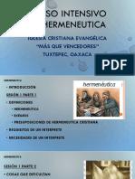 CURSO INTENSIVO DE HERMENEUTICA ACTUAL