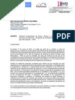 Ciudadela La Paz - Solicitud de cumplimiento anexo técnico