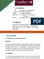 2.1 Interés Compuesto Definición, terminología y fórmulas(1)