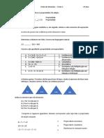 Ficha de Revisões Teste 1