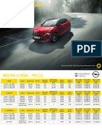 Listino Opel Corsa 04 2021