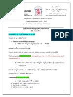 TD Echant Et Estimation Corrigé Série 1 PDF