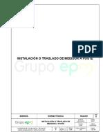 Ra6-022 Instalación o Traslado Medidor a Poste