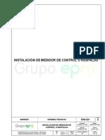 Ra6-021 Instalación de Medidor de Control o Respaldo